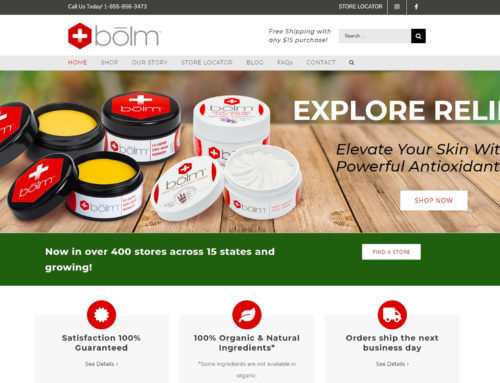 Bolm Skin Care Website