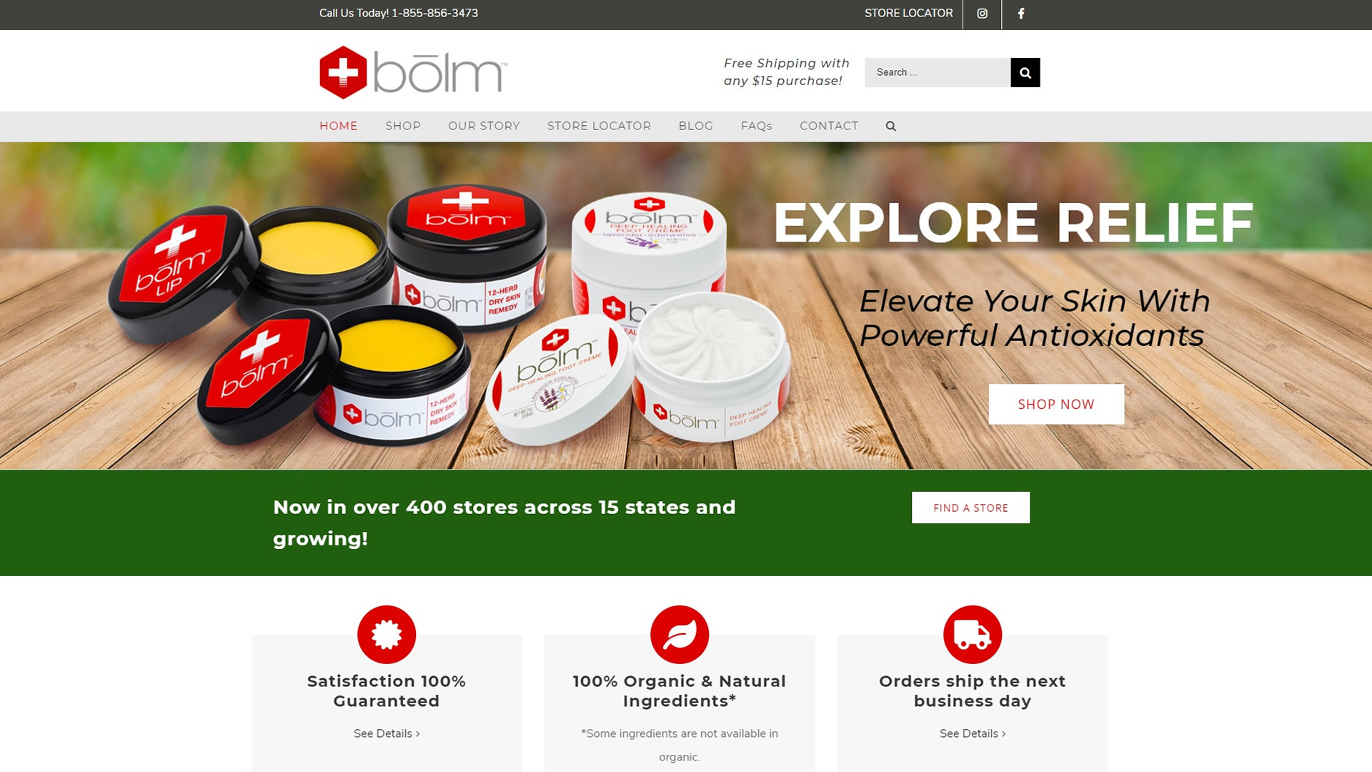 Bolm Skin Care Website