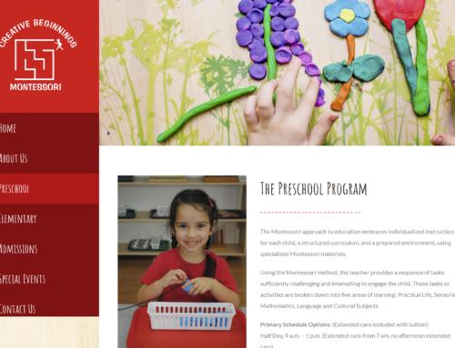 Creative Beginnings Montessori Website